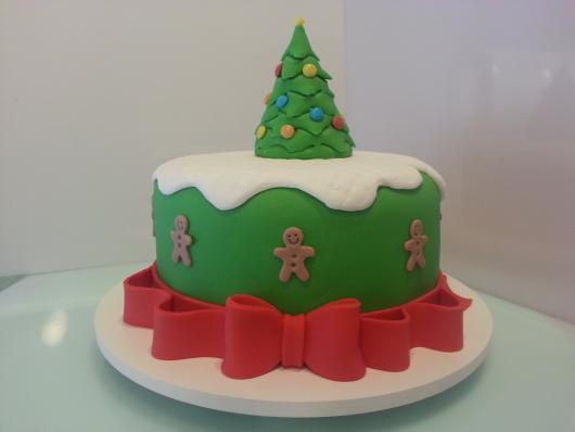 Simple Christmas Cake Christmas Tree