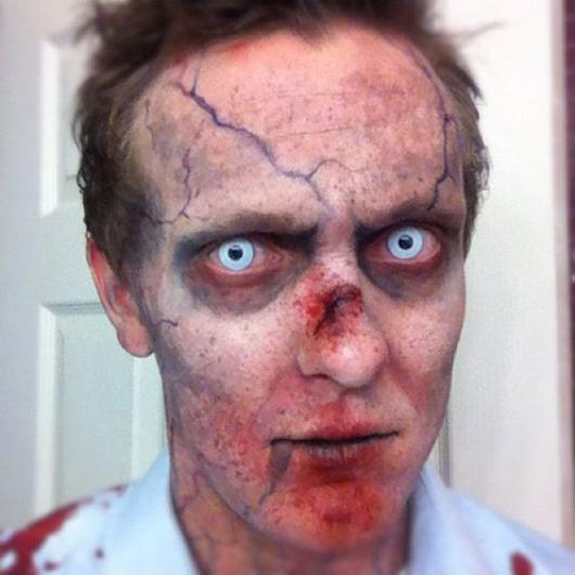 zombie makeup with contact lens