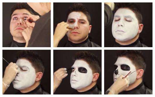 mexican skull makeup step by step