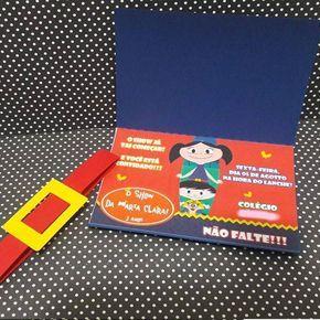 Luna Show invitations with ribbon that looks like a belt
