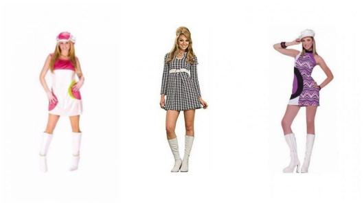 Assembly with three different looks from the 60s.