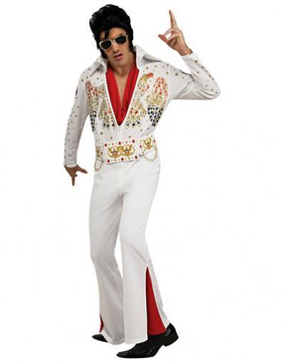 Man in Elvis Presley's 1960s Costume.
