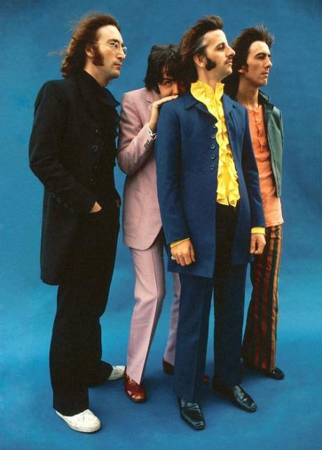 Photo of the members of The Beatles band.