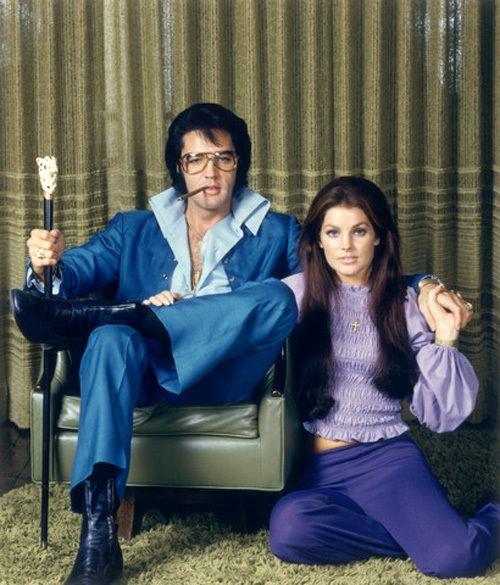 Elvis and Priscilla Presley.