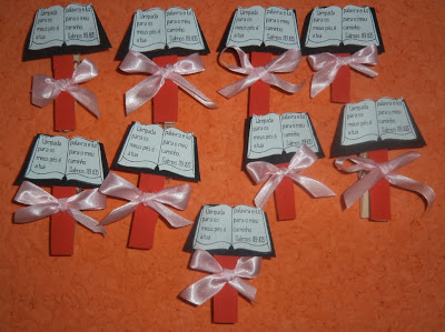 bookmarks as gospel party favors