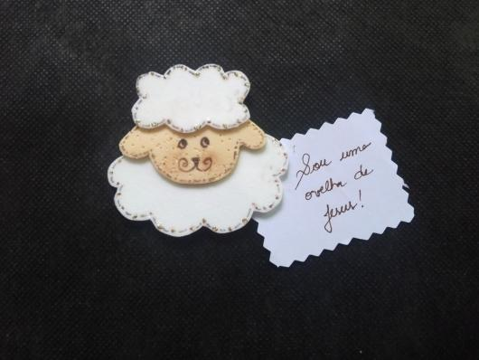 sheep with message as gospel party favors
