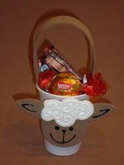 basket with sheep as a gospel souvenir