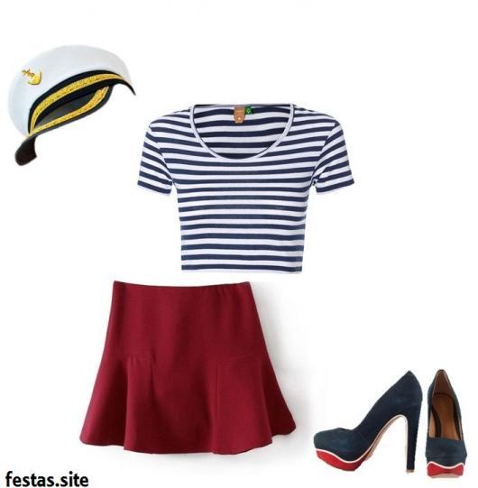 improvised sailor costume