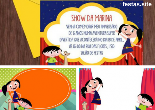 Luna's show invitations