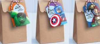 Packaging with avengers decoration.
