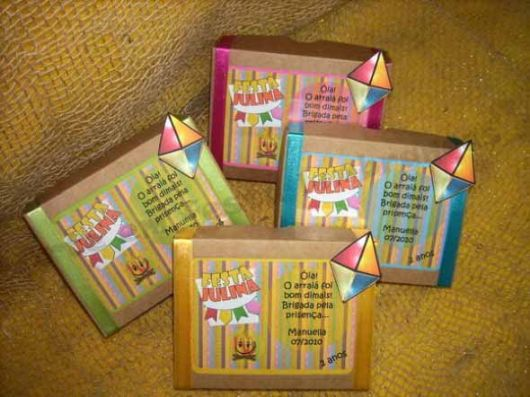 party favors junina cardboard box
