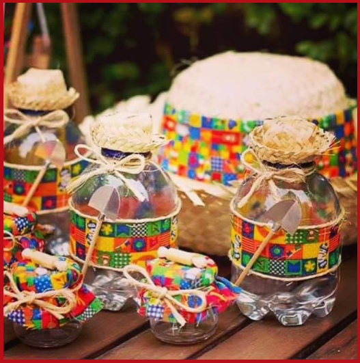June party favors with plastic bottles