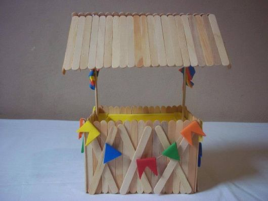 June party favors with popsicle stick