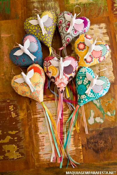 June party favors with fabric lollipop