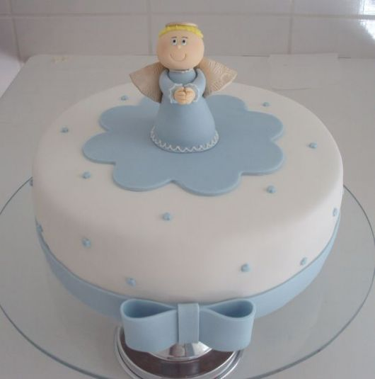 American blue and white paste cake