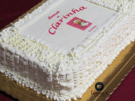 square cake with rice paper