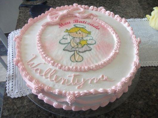 girl baptized cake