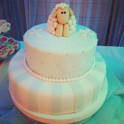 sheep baptized cake