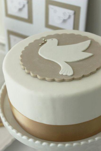 dove decorated cake