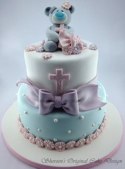 teddy bear colored cake
