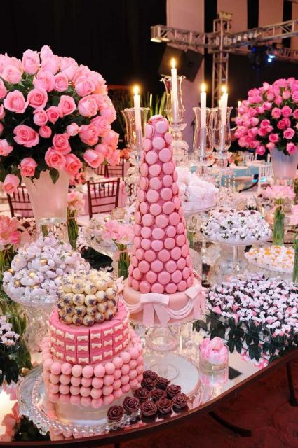 15 years pink decoration