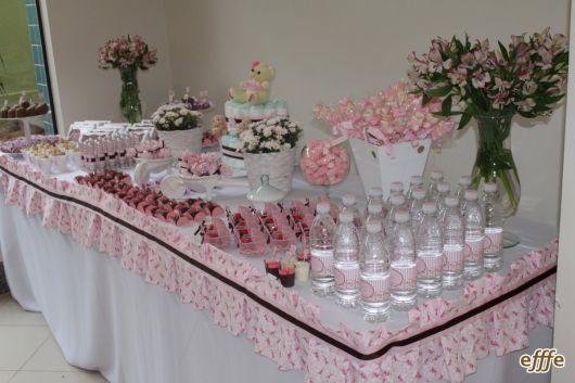 pink baby shower decoration