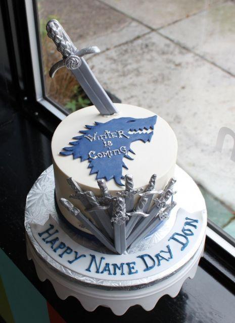 decorated cake got