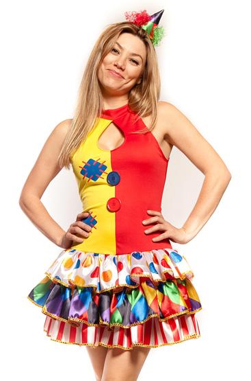 current female clown costume