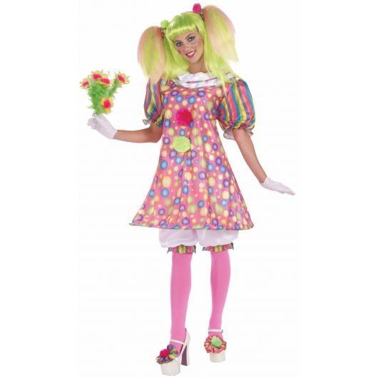 simple woman clown costume