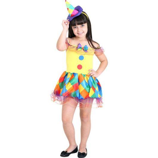 simple girl clown costume