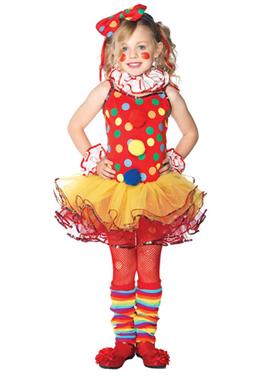 female child clown costume