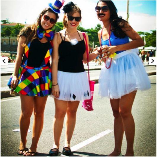 improvised creative female clown costume