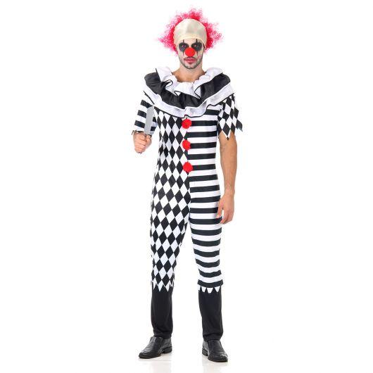 evil beautiful clown costume