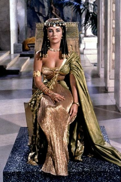 Cleopatra costume models in movies