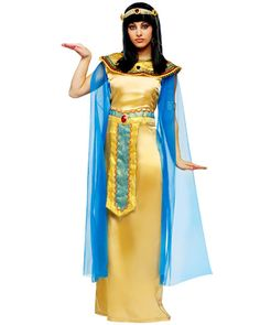 gold and blue Cleopatra costumes