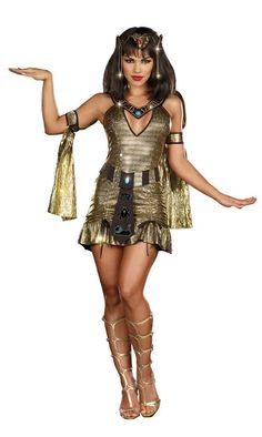 Cleopatra costumes with short skirt