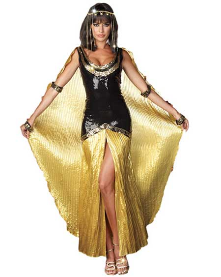 black and gold Cleopatra costumes