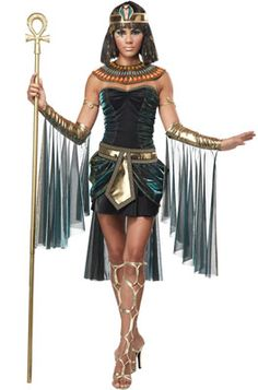 Cleopatra costumes with short black dress