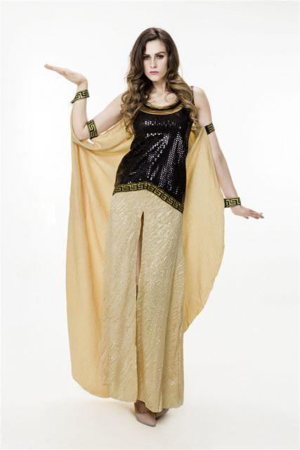 makeshift Cleopatra costumes