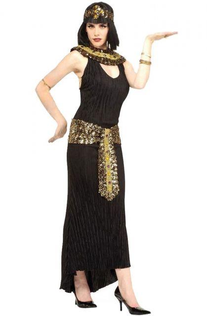 custom Cleopatra costumes with black dress
