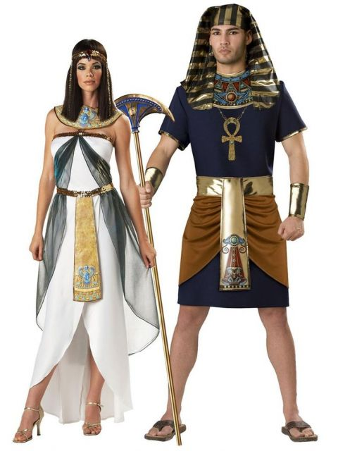 Cleopatra and Pharaoh costumes