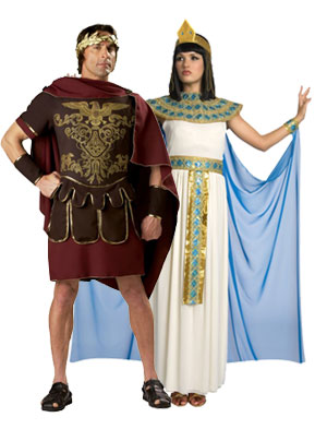 Cleopatra's costumes for a couple's party