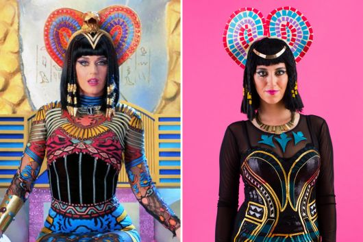 Katty Perry in Cleopatra costumes
