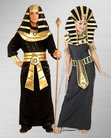 costume photos of Cleopatra and Black Pharaoh