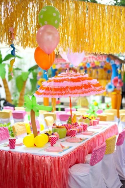 colorful hawaiian party how to do