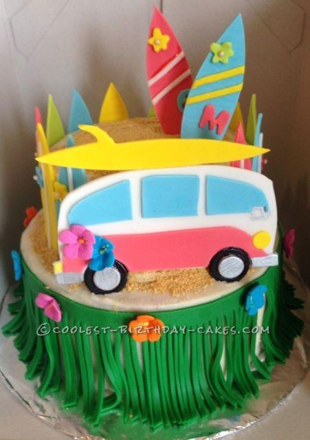 modern hawaiian cake