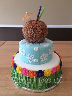 Hawaiian party cake