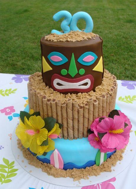 hawaiian party idea of cake