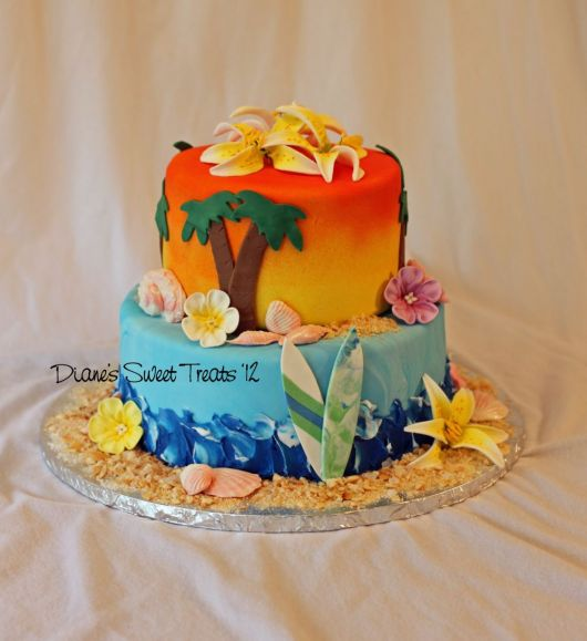 Hawaii cake idea