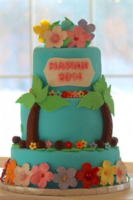 hawaiian cake party